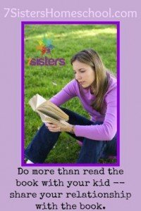 Share what you love (or hate) about a book and watch your homeschooler respond! 7SistersHomeschool.com