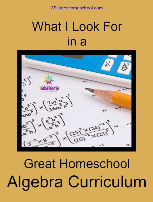 What i look for in a great homeschool algebra curriculum fandeluxe Choice Image