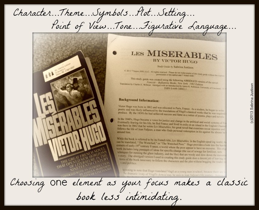 a literary analysis of les miserables by victor hugo Les miserables literary analysis objective: to compose a thesis statement concerning victor hugo's novel les miserables and construct supports for it using direct quotations from the text.