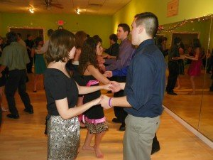 Our local homeschoolers take ballroom dance lessons in the winter