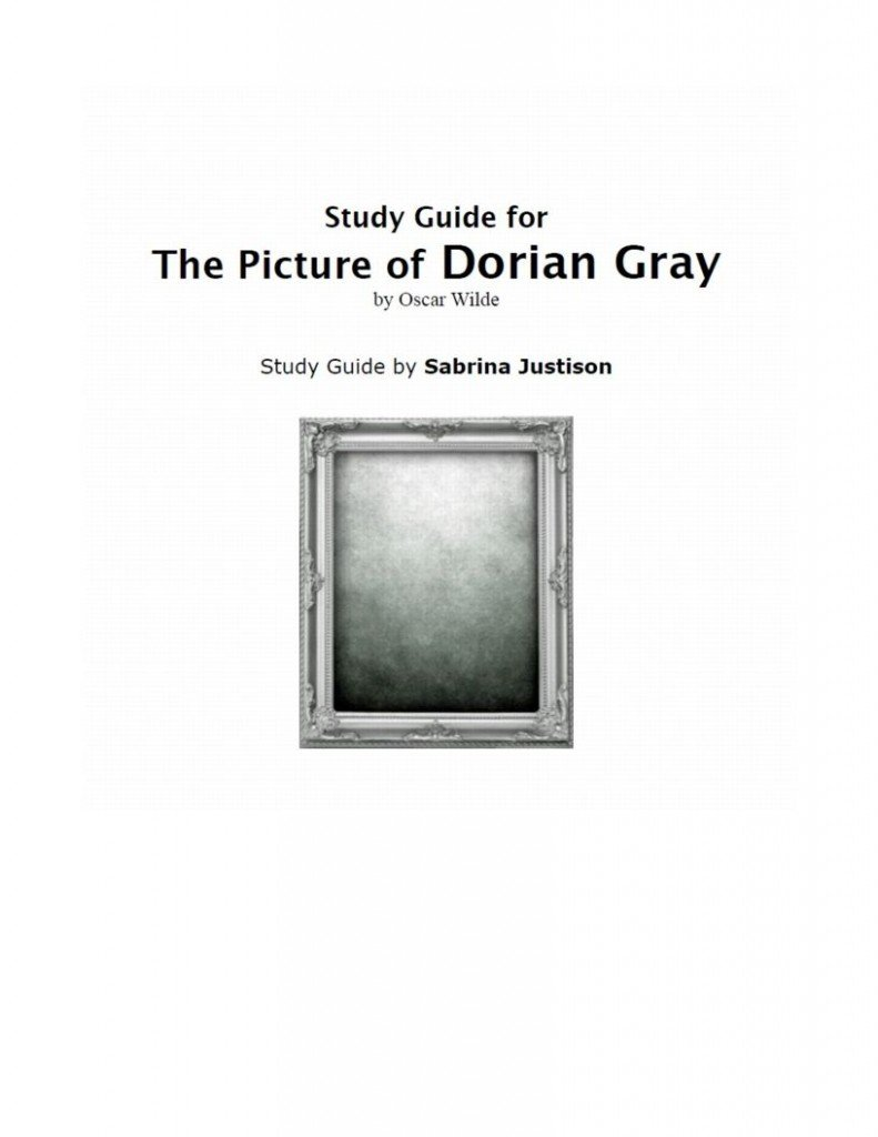 The picture of dorian gray study guide