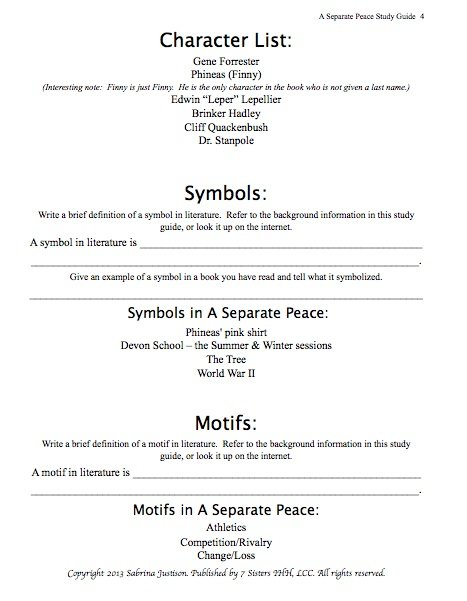 a separate peace study guide Free monkeynotes study guide summary-a separate peace by john knowles- free booknotes chapter summary plot synopsis essay book.