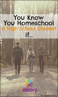 You know you homeschool a high school student if...