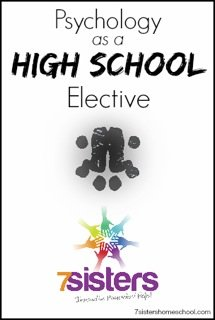 Psychology as a High School Elective - include a social science