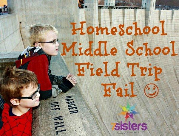 Homeschool Middle School Field Trip Fail
