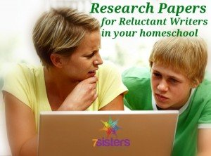 Research Papers for Reluctant or Novice Writers FREE from 7SistersHomeschool.com