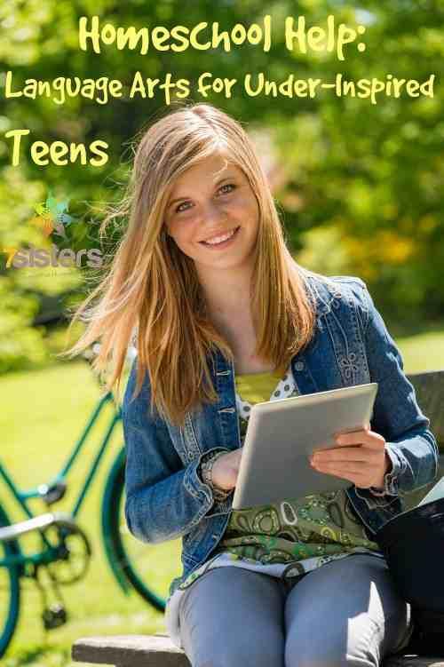 Homeschool Language Arts Help for an underinspired teen