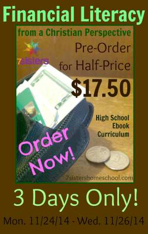 Financial Literacy from a Christian Perspective Pre Order Half Price 3 days only