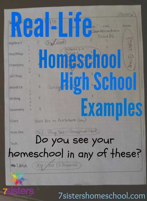 Real-Life Homeschool High School Examples - Favorite Case Studies from 7Sisters
