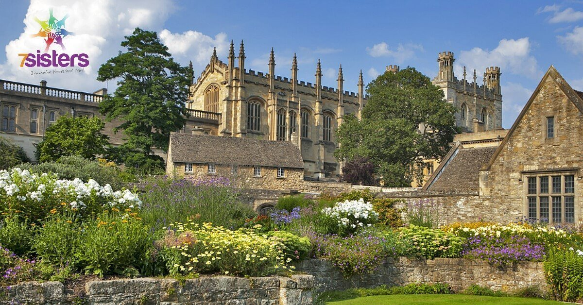 Homeschoolers Need More C.S. Lewis! 7SistersHomeschool.com #CSLewisLiteratureGuides #CSLewisForHomeschool #HomeschoolLiterature This photo shows Magdalen College, Oxford University, where CS Lewis taught.