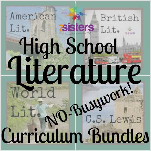 High School Literature Curriculum: 4 Bundles of No-Busywork Learning
