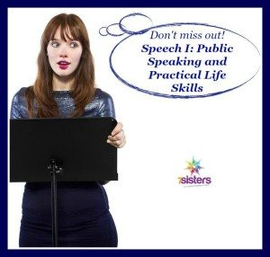 Don't miss out! Speech I: Public Speaking and Practical Life Skills from 7 Sisters Homeschool
