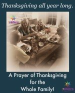 A Prayer of Thanksgiving for the Whole Family