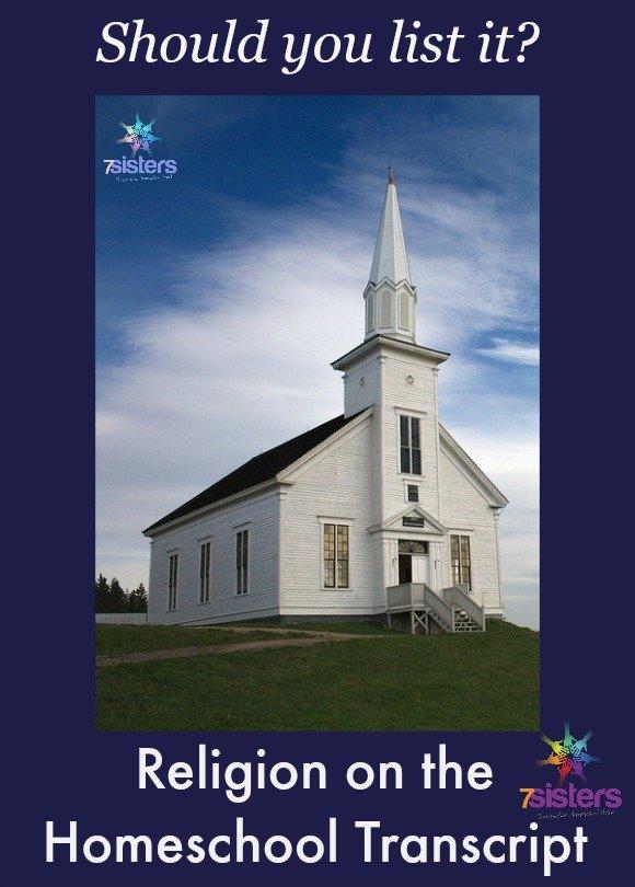 Religion on the homeschool transcript: Should you include it? 7SistersHomeschool.com