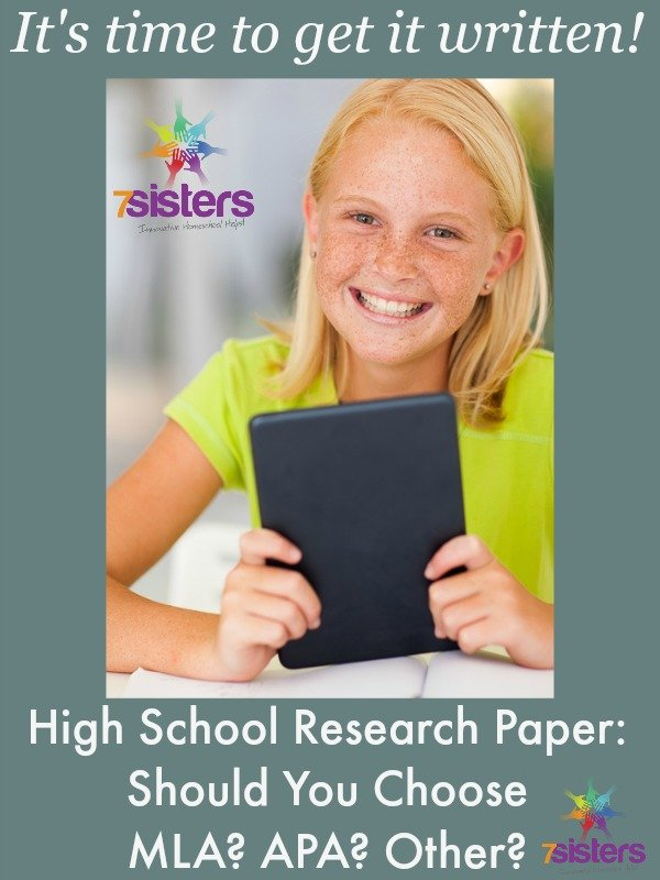 high school research paper should you choose mla apa other high school research paper should you choose mla apa other 7sistershomeschool