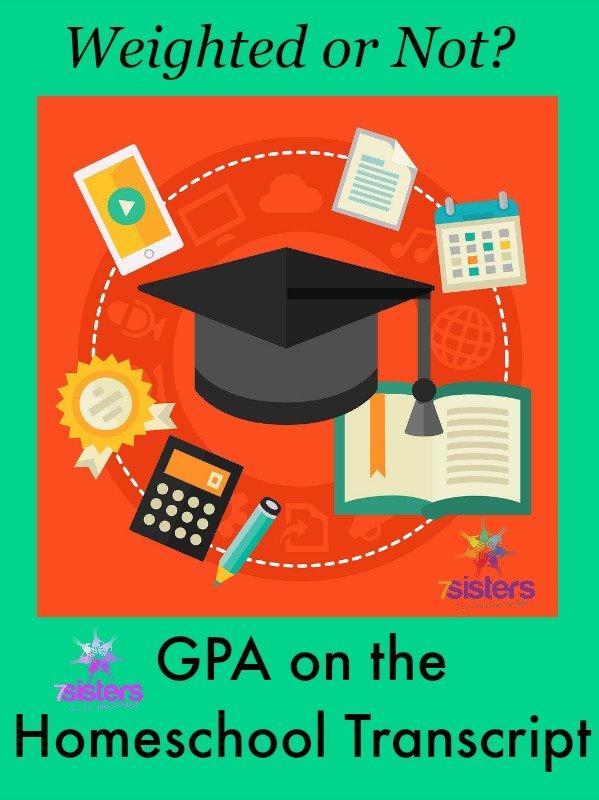 GPA on the Homeschool Transcript 7SistersHomeschool.com