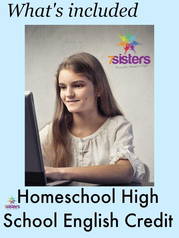 Homeschool High School English Credit 7SistersHomeschool.com