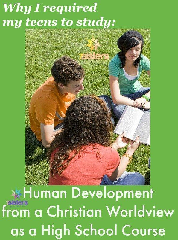 Human Development Course for Homeschool High School 7SistersHomeschool.com