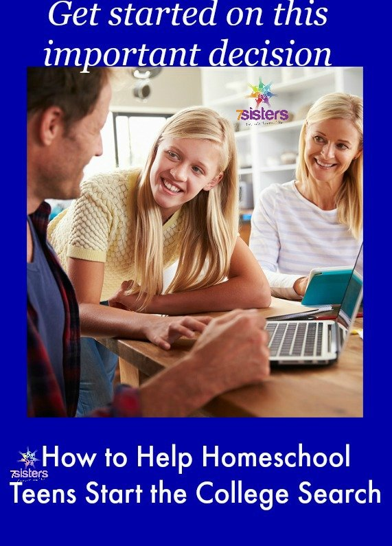 College Search for Homeschool Teens 7SistersHomeschool.com