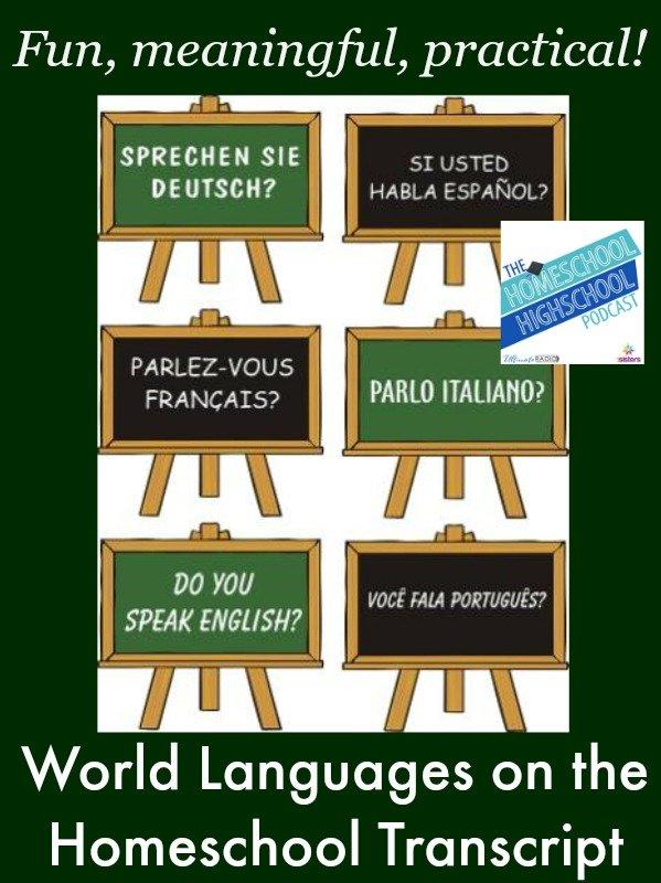 World Languages on Homeschool Transcript