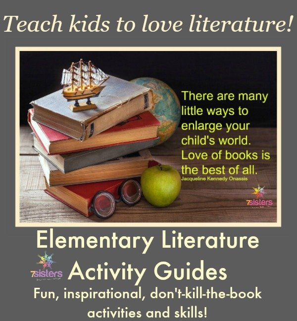 Elementary Literature Activity Guides from 7SistersHomeschool.com
