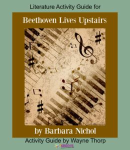 Literature Activity Guide for Beethoven Lives Upstairs 7SistersHomeschool.com