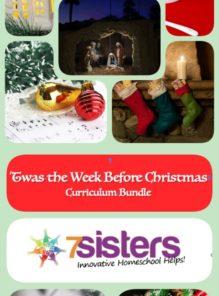 Twas the Week Before Christmas Homeschool Curriculum Bundle