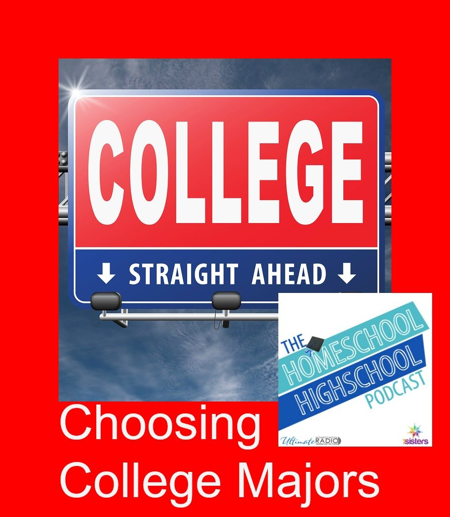homeschool highschool podcast episode choosing college majors