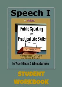 Speech I Student Workbook from 7Sistershomeschool.com