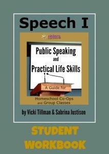 Speech I Student Workbook from 7Sistershomeschool.com