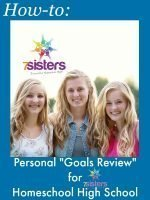 """How-to: Personal """"Goals Review"""" for Homeschool High School"""