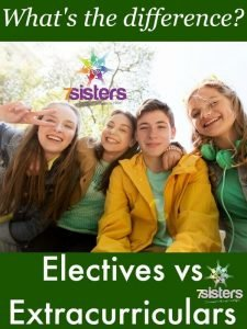 Difference Between Homeschool Transcript Electives and Extracurriculars 7SistersHomeschool.com