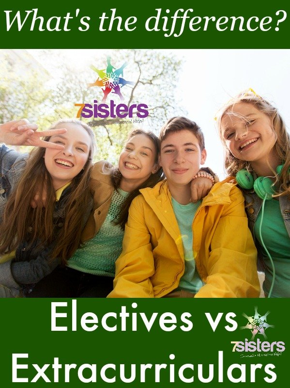 The Difference Between Homeschool Transcript Electives and Extracurriculars 7SistersHomeschool.com