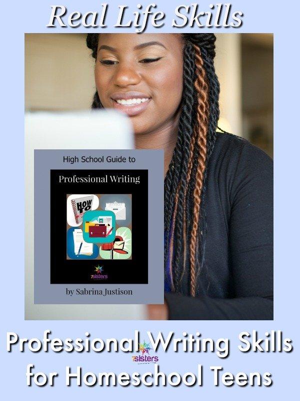 Give Career-Preparation Professional Writing Skills to Homeschool Teens 7SistersHomeschool.com