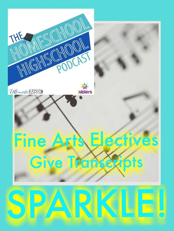 Homeschool Highschool Podcast Ep 75: Fine Arts Electives Give Transcripts SPARKLE! Join us for an interview with Dr. Duane Cottrell for Fine Arts and more.