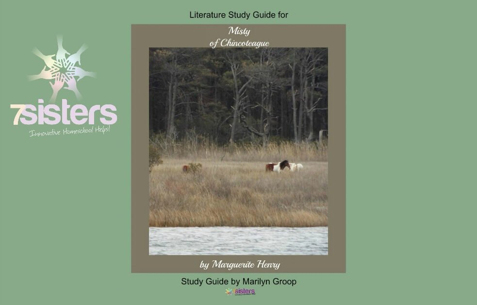 Misty of Chincoteague Middle School Literature Study Guide from 7SistersHomeschool.com #HomeschoolLiteratureStudyGuides