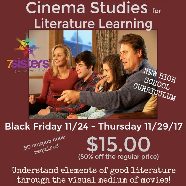 Cinema Studies for Literature Learning new high school curriculum from 7SistersHomeschool.com