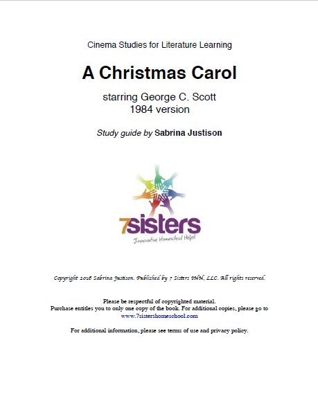 excerpt from a christmas carol cinema study guide rh 7sistershomeschool com Cliff Notes a Christmas Carol A Christmas Carol Worksheets