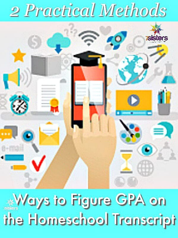 2 Practical Ways to Figure GPA on the Homeschool Transcript 7SistersHomeschool.com