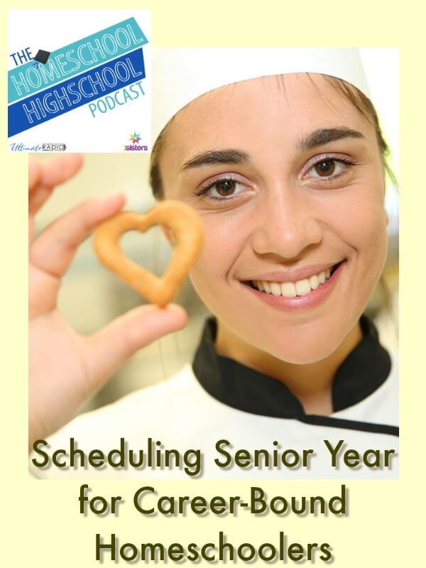 Homeschool Highschool Podcast Ep 96: Senior Year Schedule for Career-Bound Teens. What needs to happen during senior year and when if your homeschool highschooler is headed for the workforce?