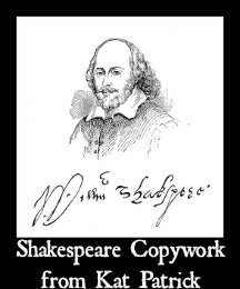 Shakespeare Copywork from Kat Patrick Freebie from 7SistersHomeschool.com