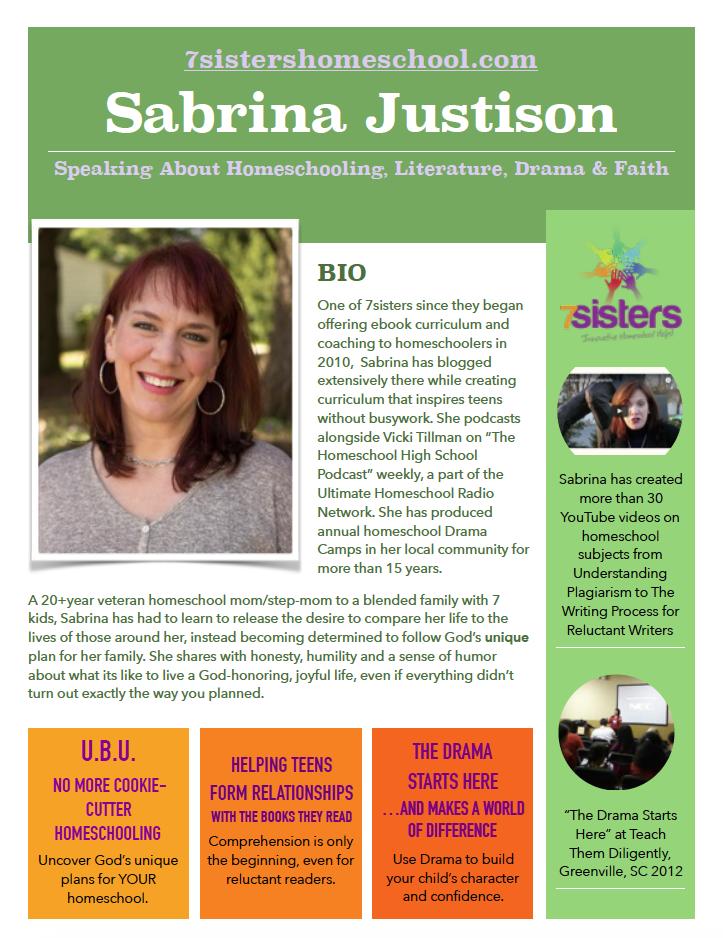 Sabrina Justison Speaker Media Kit page 1