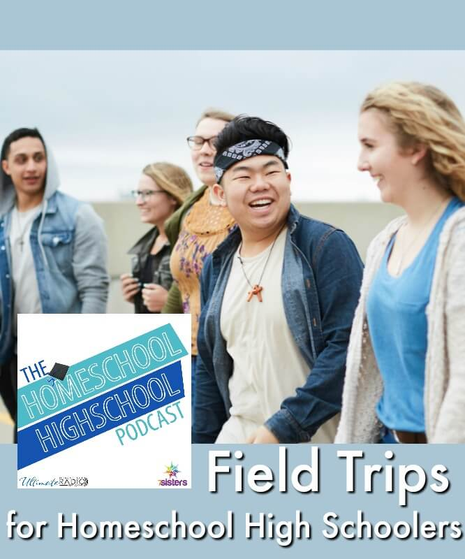 HSHSP Ep 130_ Field Trips for Homeschool High Schoolers #Homeschool Highschool Podcast #FieldTrips #FieldTripsForTeens This photo shows a group of multi-ethnic teens walking on a field trip.