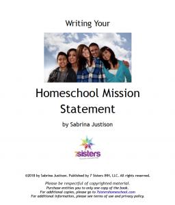Homeschool Mission Statement FREE Download from 7SistersHomeschool.com