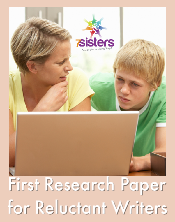 First Research Paper for Reluctant Writers. This freebie is designed as a remedial-level introduction to teens who have no experience in research paper writing and need a very simple introduction to the paper-writing process. #HomeschoolHighSchool #HomeschoolFirstPaperWriting #ReluctantWriters #HomeschoolLanguageArts